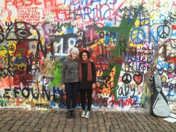 Johnnay and I at the Lennon Wall in Prague