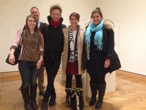 (Left to right): Nicole Sheridan, Dr. Andy Barnes, Zach Forstrom, Katherine Joy, and Clare Monardo