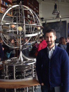 Alex with The Orrery