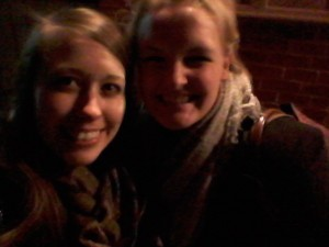 Exploring the town of Colonial Williamsburg with fellow Kristin (on right)