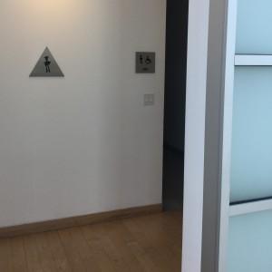 Pixar restroom sign