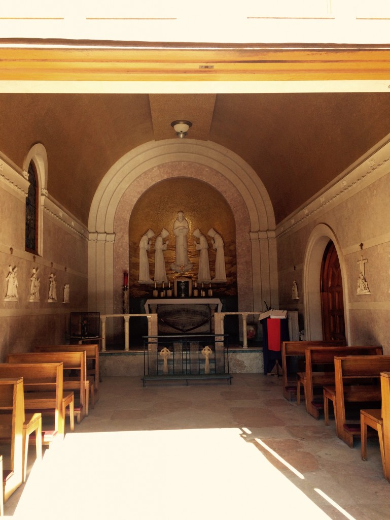 Interior of Portiuncula Chapel, Hanover, MA