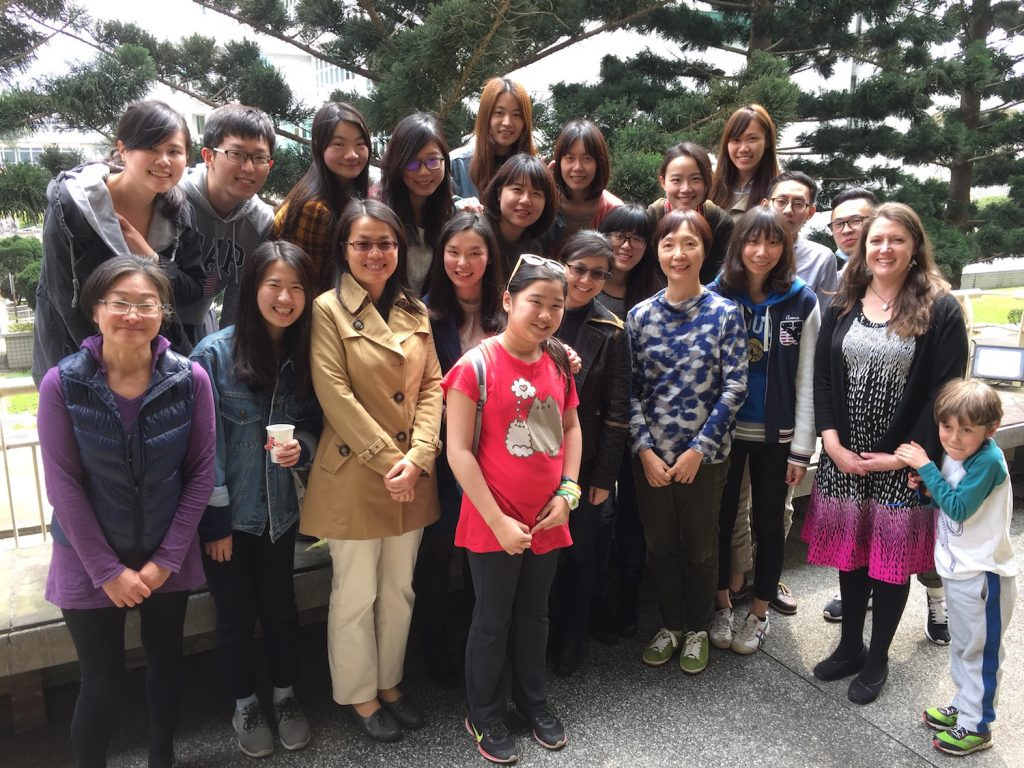 Dr. Shirey with students and faculty at National Central University in Taipei, Taiwan