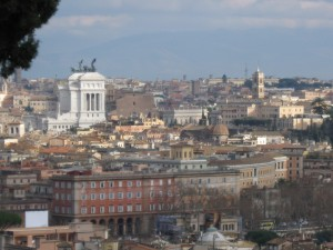Another view of Rome - The white monument on the left is Monumento a Vittorio Emanuele II near the capitol building