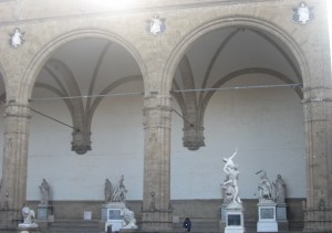 The Galleria degli Uffizi - The Rape of the Sabine Women is the second one from the right