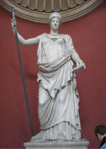 A statue of Hera from the Sala Rotonda (Round Room) in the Vatican Museum