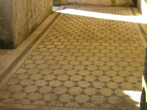 Perfectly preserved mosaic at the Villa dei Quintili