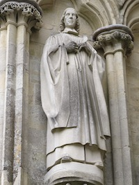 George Herbert sculpture at Salisbury Cathedral