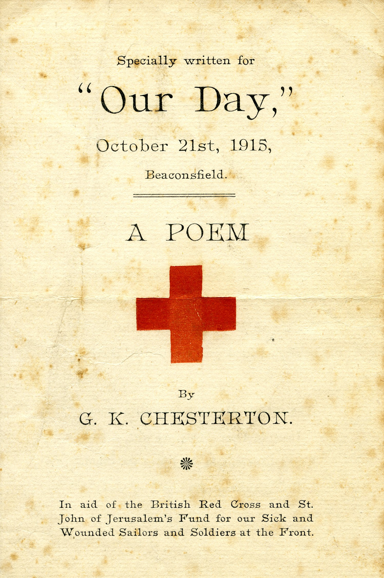 Treasures from the Rare Books Collection – G. K. Chesterton and ...