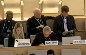 The Nuncio delivers a statement on contemporary forms of slavery at the 24th Session of the Human Rights Council.