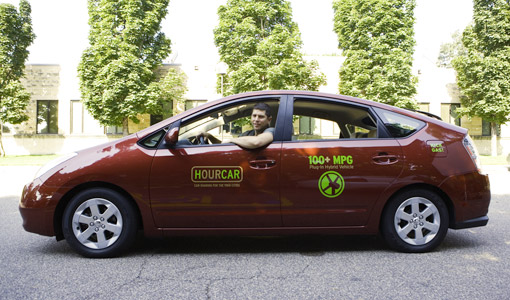 HOURCAR is placing two new Toyota Priuses on the University of St. Thomas' Saint Paul campus.