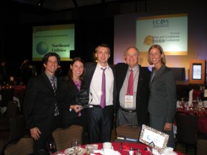 Sean Elder, Sara Speiker, Roman Savchenko, Ken Goodpaster and Kelsey Luers  University of St. Thomas Full-time UST MBA Team Receives Top Honor at National Business Ethics Competition