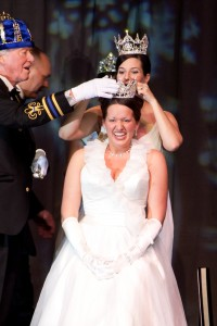 Madalyn Dosch, a 2008 St. Thomas graduate, is crowned Queen of the Snows at St. Paul's Winter Carnival. (Darrin Johnson/Saint Paul Winter Carnival Photography)