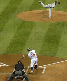 Jim Thome, designated hitter for the Minnesota Twins, hitting a home run at Target Field, September 2010.