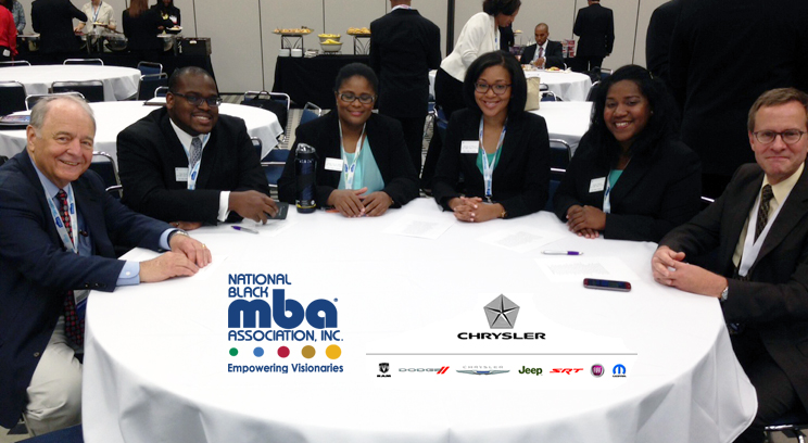 The Case competition team of Nigel Brown, Joelle Purvis Allen, Monica Ricard and Kamaj Bailey with Dean Puto, Left and Prof. Arnold, right.