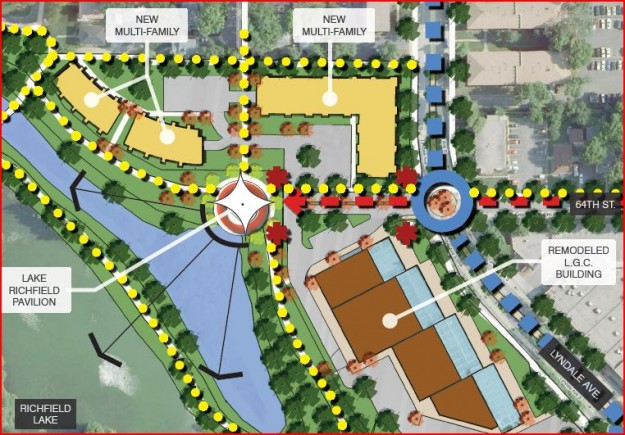 The Cornerstone Group's Site Plan for the Lyndale Garden Center Redevelopment in Richfield, MN