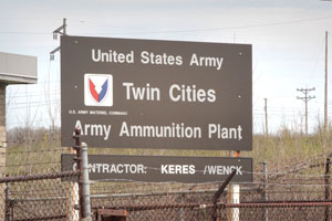 The sprawling Twin Cities Army Ammunition Plant (TCAAP) in Arden Hills has been proposed as the site for a new football stadium for the Minnesota Vikings. (File photo: Bill Klotz)