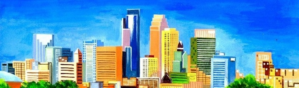 water color MPLS Skyline