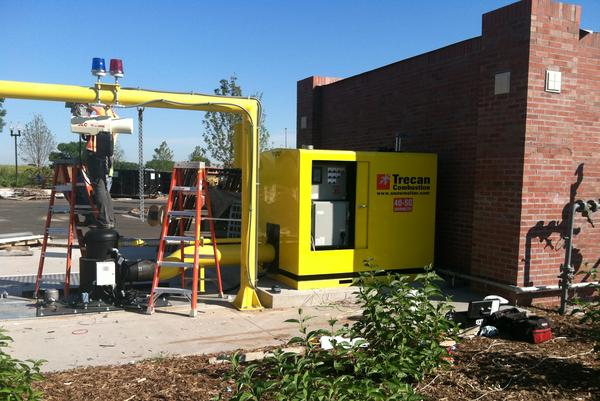 The snow melter at the new Twin Cities Premium Outlets in Eagan (source: MSP Business Journal)