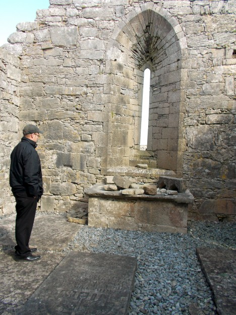Speaking of Fr. Shane, he explained the history of Inis Mr as one of Catholicism- founded around monasteries of St. Patrick and St. Patrick's followers.  This altar that sits in ruins now, then was a place where people invited God to come...and He came.  