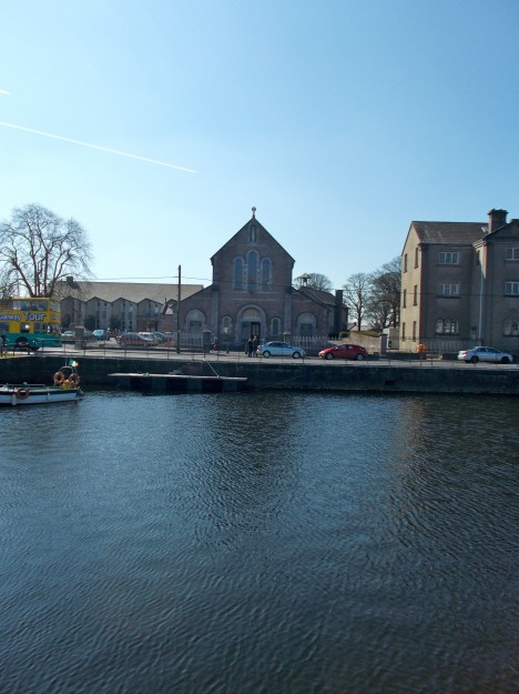 In Galway City- the Claddagh Church across the Galway Bay.