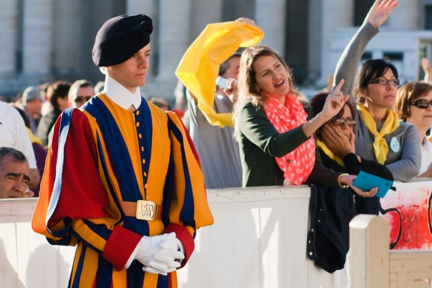 Swiss guard at the Papal Audience