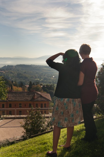 The view in Perugia was stunning, so of course we had to stop and enjoy it for a while before heading to the chocolate festival