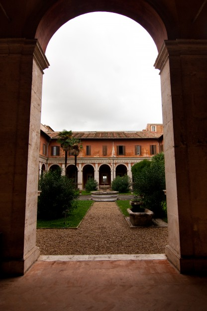 The classrooms open up to a courtyard in the middle with clementine trees and an old, broken fountain