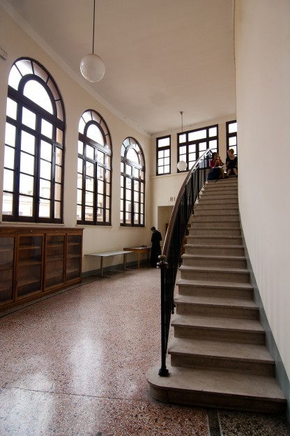 And we have staircases next to beautiful large windows.