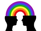 8927257-head-silhouette-couple-rainbow-communication