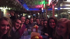 Group of Tommies eating at the Nook