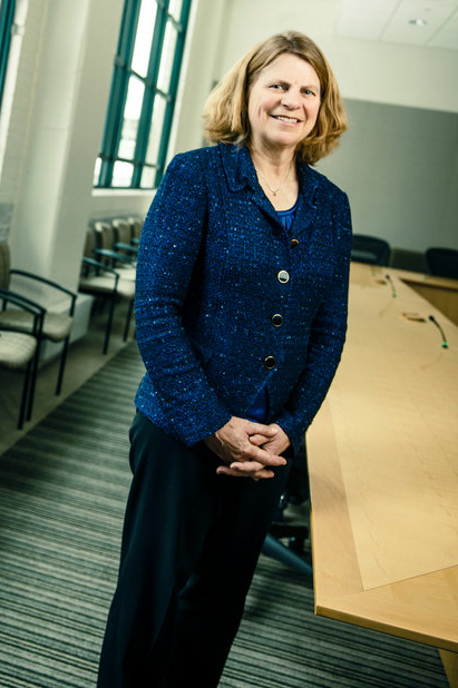 Dr. Penny Wheeler, president and chief executive officer of Allina Health, poses for a portrait in Allina's Minneapolis offices March 4, 2016. Wheeler is joining the Opus College of Business board of governors. Taken for B. magazine.