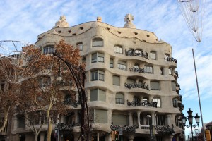 An exterior view of Casa Mila