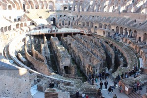 The floor of the Colosseum