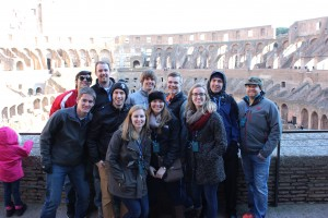 A group of us at the Colosseum