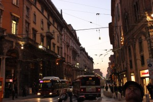 A street view in Bologna