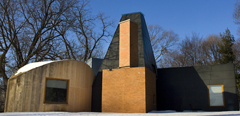 The Winton Guesthouse, designed by architect Frank Gehry