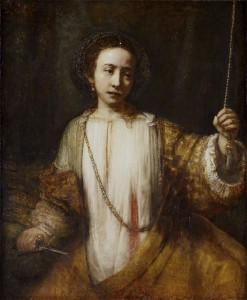 Rembrandt, Lucretia, 1666.  Minneapolis Institute of Arts.