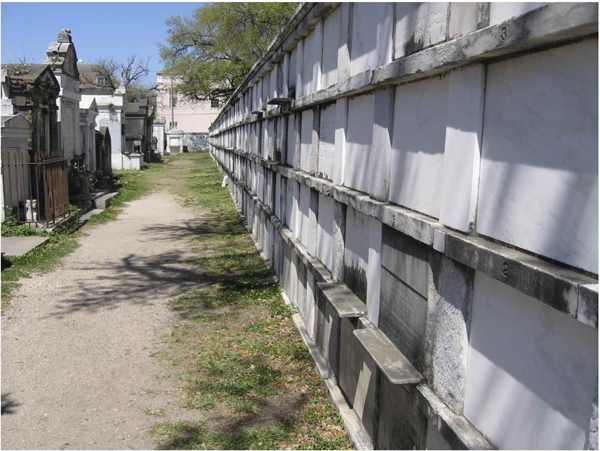 Wall Vaults.  Lafayette Cemetery No. 1, New Orleans, LA, 2013.    Photo: Sandy Tomney