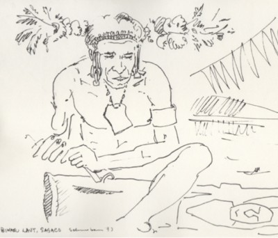 Tobias Schneebaum, Biwar Laut, Sasco, 1973