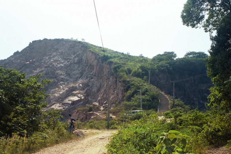 Mount Zhixing being quarried.  Photo: author.