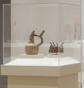 Four cornered hat and Moche fineline pot