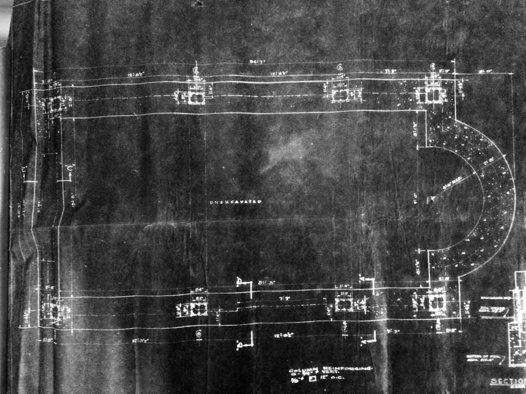 Original blueprint of the Portiuncula