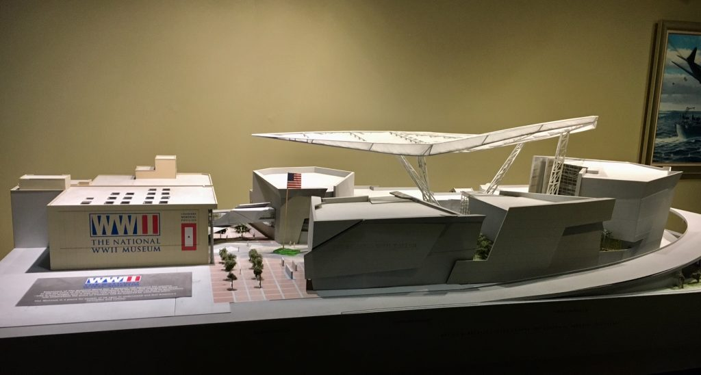 Architectural model of museum campus (as viewed from Camp Street)