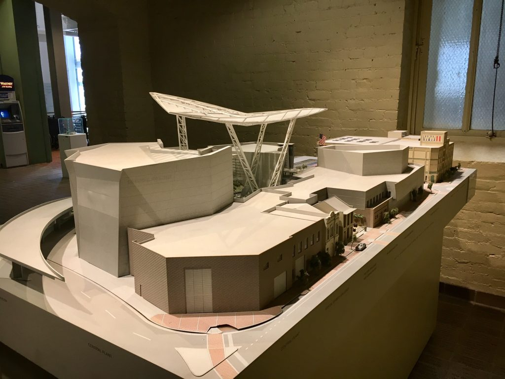 Architectural model of museum campus (as viewed from Magazine Street)
