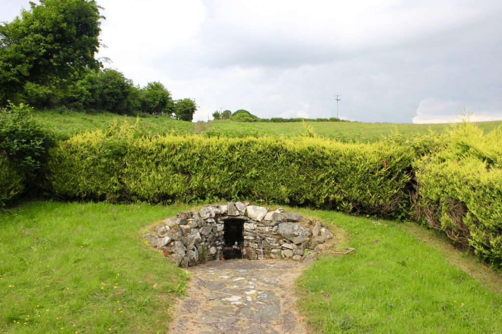 Tucked into a hillside down the road from Raffony Graveyard is St. Brigid's Well, Raffony, County Cavan. Photograph taken by author on June 10, 2016.