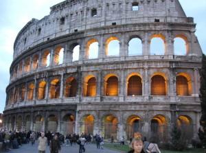 The Colosseum closer to dusk