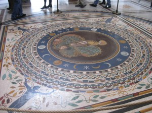 The floor in Sala a Croce Grece (Room at the Greek Cross)