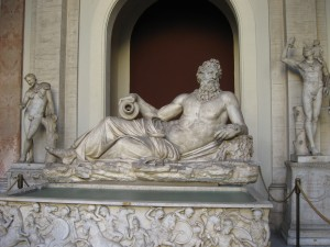 A statue from the Octagonal Courtyard in the Vatican Museum