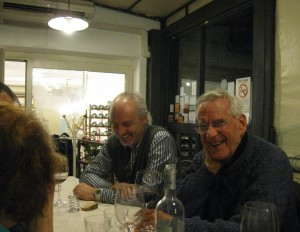 Claudio on the left - our Italian coordinator and guide, John on the right - one of our instructors